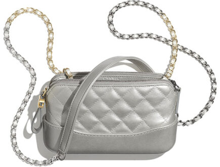 Chanel Gabriele Clutch With Gold And Silver Chain thumb