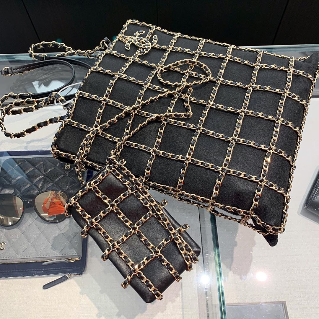 Chanel Tote With Chain Bag