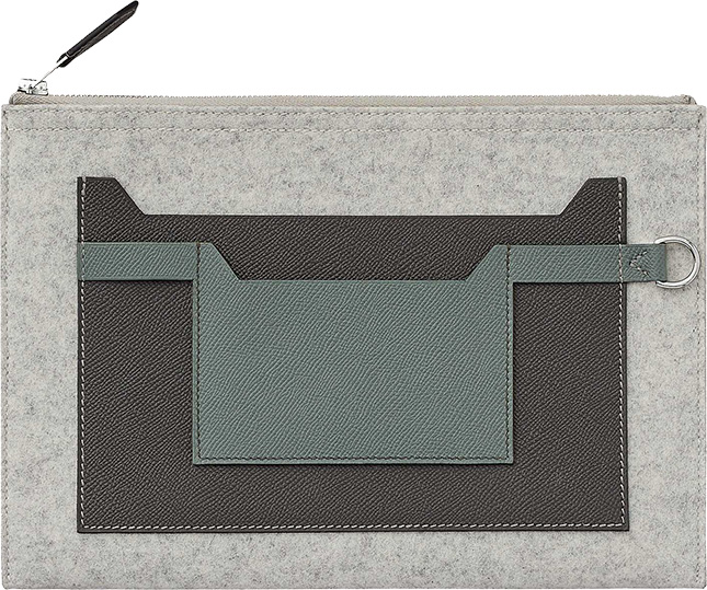 Hermes Toodoo Colorblock Pouch