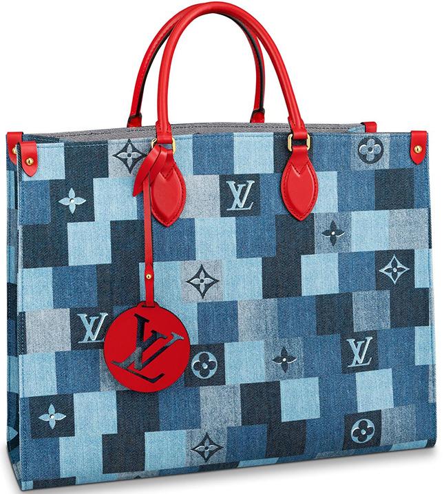 Louis Vuitton Damier Monogram Denim Patch Work Bag Collection