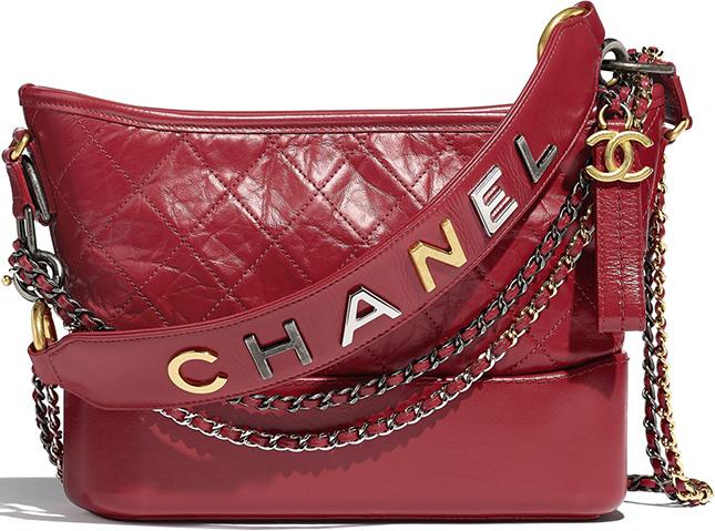 Chanel's Gabrielle Bag with Bi Color Logo Chain Strap