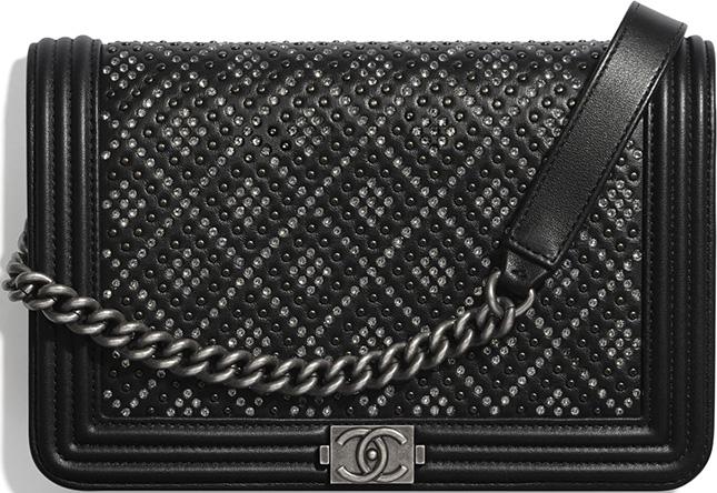 Chanel Diamond Studded Boy Bag
