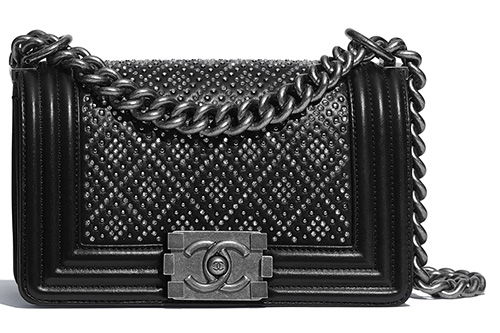 Chanel Diamond Studded Boy Bag thumb