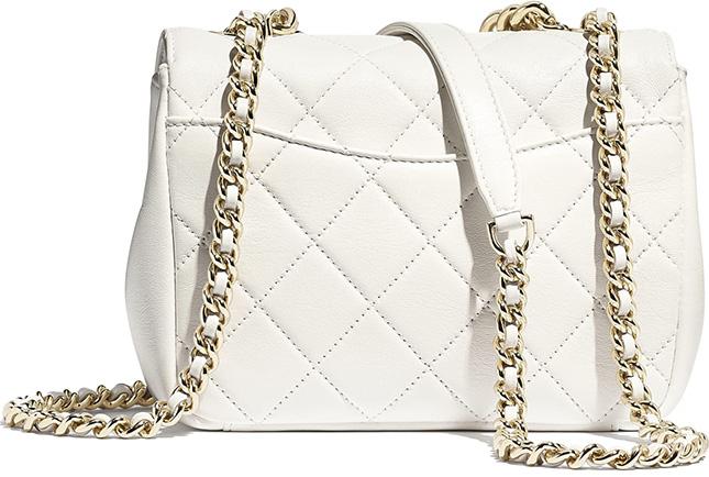 Chanel Embossed Studded Logo Bag