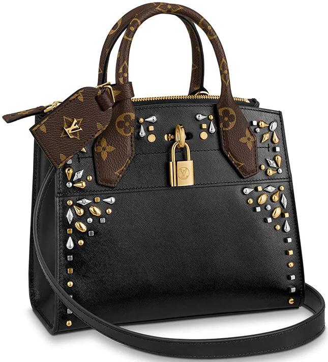 Louis Vuitton Edgy Rock Chic Petite Malle Bag