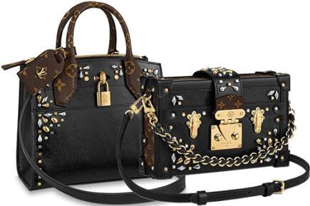 Louis Vuitton Edgy Rock Chic Petite Malle Bag thumb