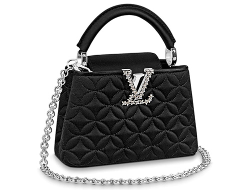 Louis Vuitton Monogram Flower Embossed Capucines Bag WITH gem stones LV Logo thumb