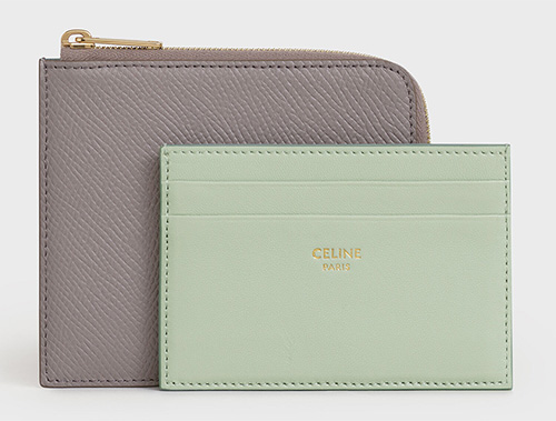 Celine Zipped Purse With Removable Card Holder thumb