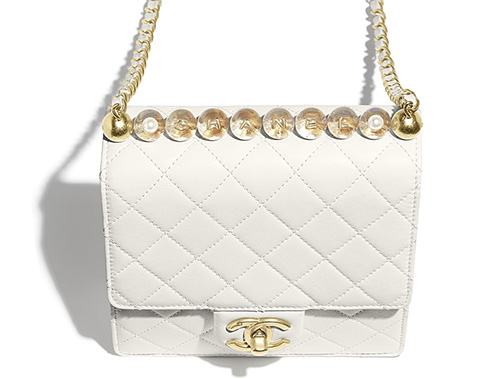 Chanel Logo Pearl Handle Bag thumb