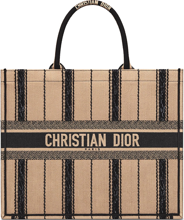 Color Classic Of – This Dior Black And Beige Embroidered Book Tote Is A Must Have