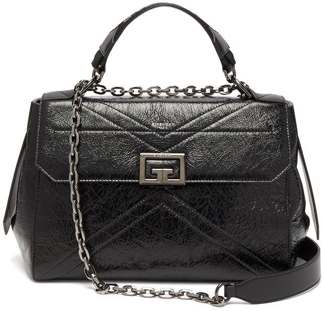 Givenchy Creased Leather Handle Bag