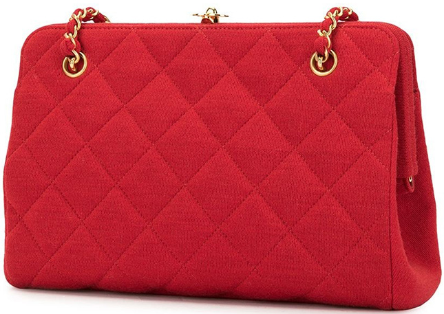 Chanel Vintage Kiss Lock Bag
