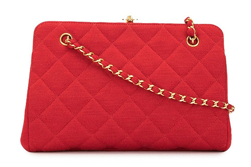 Chanel Vintage Kiss Lock Bag thumb