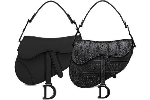 Dior Saddle Black In Ultra Matte Black Or Oblique Black thumb