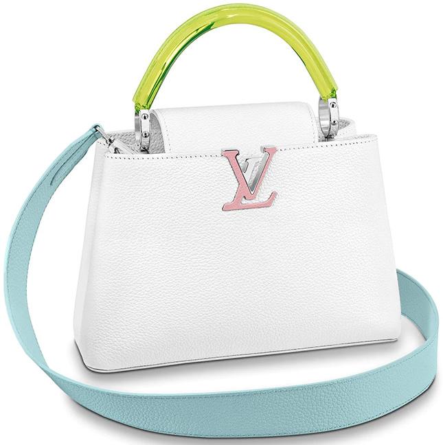 Louis Vuitton Capucines Bag with Plexiglass Top Handle