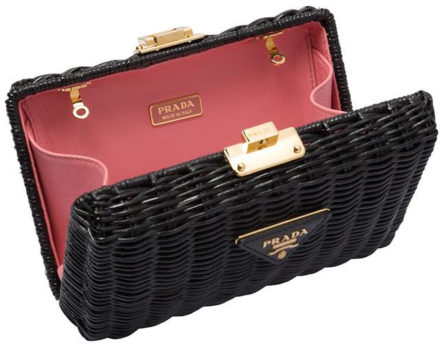 Prada Wicker Clutch Bag