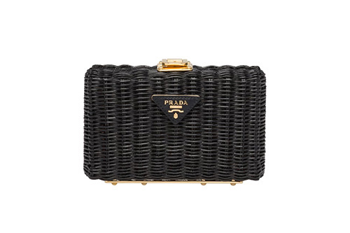 Prada Wicker Clutch Bag thumb