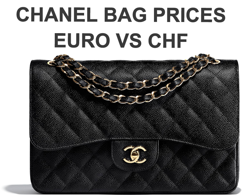 chanel bag prices chf euro