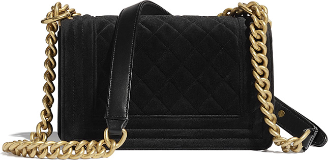 Chanel Boy Bag With Crystal Stone Clasp