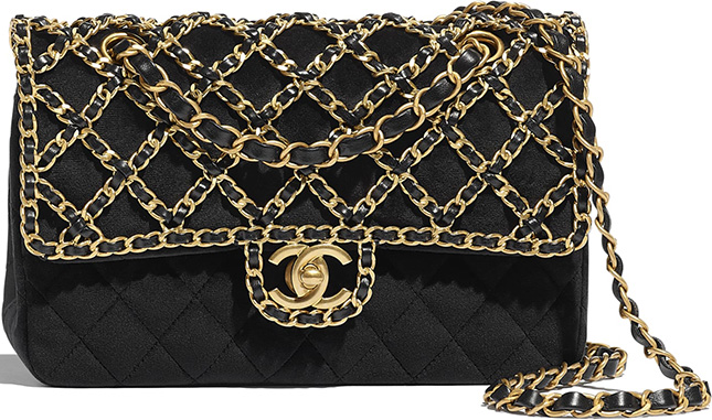 Chanel Classic Woven Chain Flap Bag