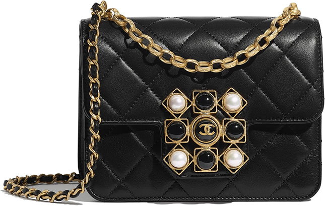 Chanel Onyx Pearl Bag