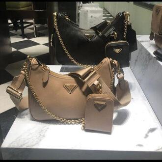 Prada Hobo Bag With A Bag thumb