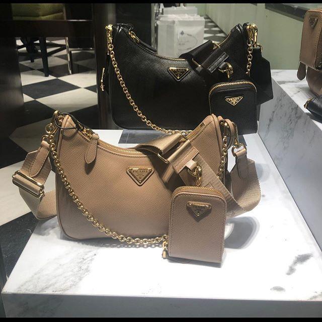 Prada Hobo Bag With A Bag