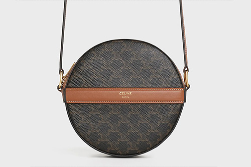 Celine Triomphe Canvas Round Purse On Strap thumb