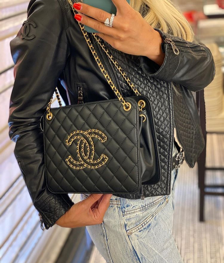 Chanel Accordion Tote Bag With Woven Chain Logo Is The Petite timeless Tote Bag Modernized