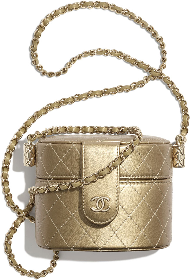 Chanel Round Vanity Clutch With Chain