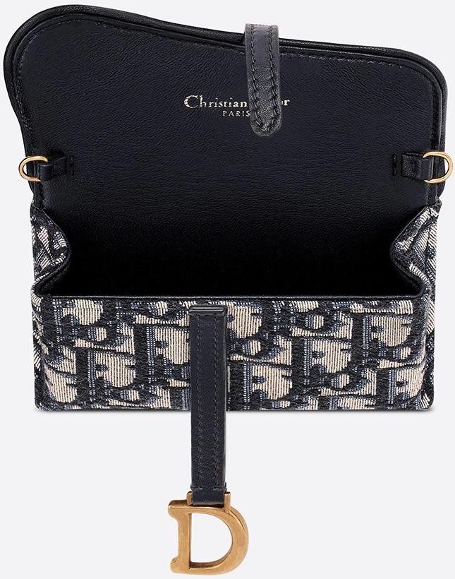 Dior Saddle Nano Pouch With Chain