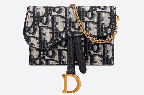Dior Saddle Nano Pouch With Chain thumb