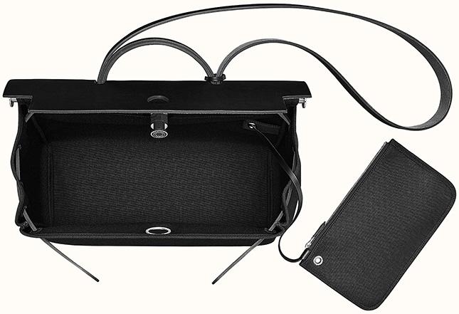 Hermes Herbag Zip All Black Bag