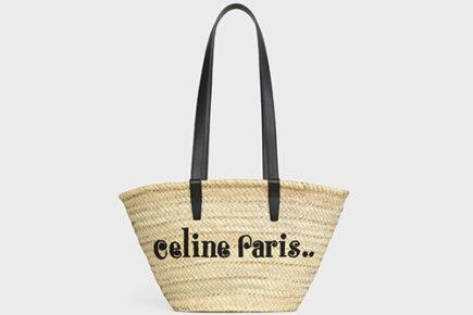Celine Classic Panier Raffia Bag thumb