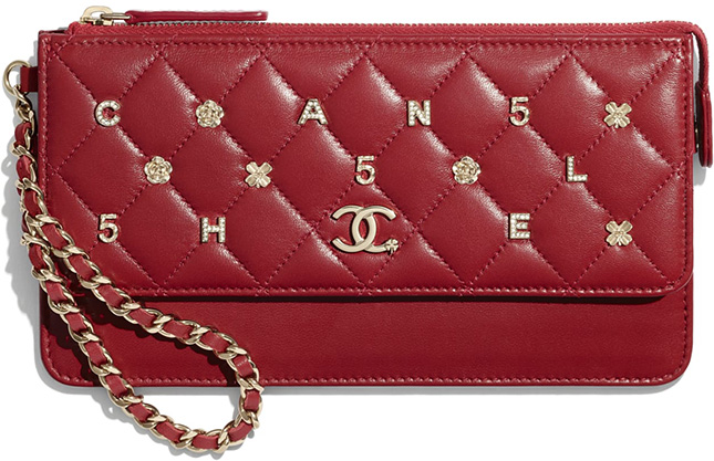 Chanel Wallet With Handle With Symbolic Charm