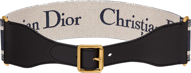Christian Dior Embroidered Canvas Belts