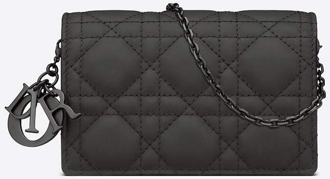 Lady Dior Nano Ultra Matte Pouch With Chain