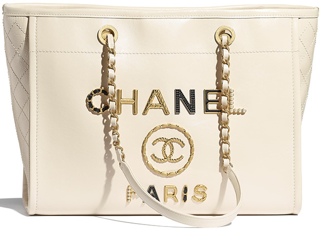 Chanel Logo Charms Deauville Bag