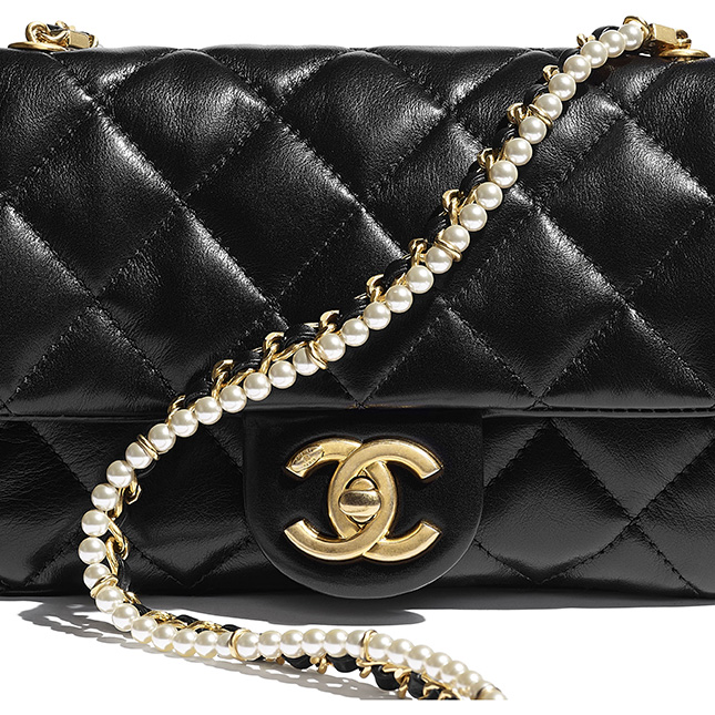 Chanel New Mini Crystal Pearls Chain Bag