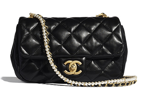 Chanel New Mini Crystal Pearls Chain Bag thumb
