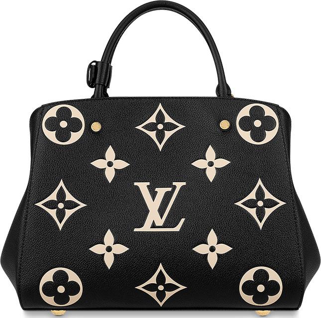 Louis Vuitton Monogram Empreinte Flower Montaigne Bag