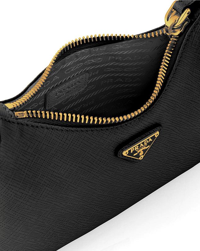 Prada Saffiano Halfmoon Bag