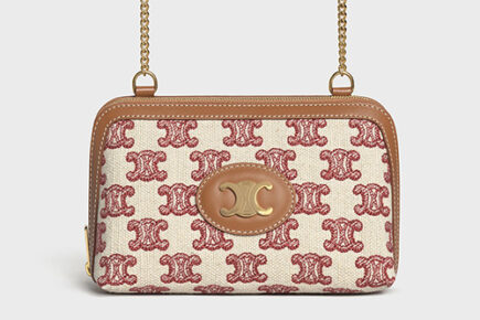 Celine Triomphe Clutch With Chain thumb