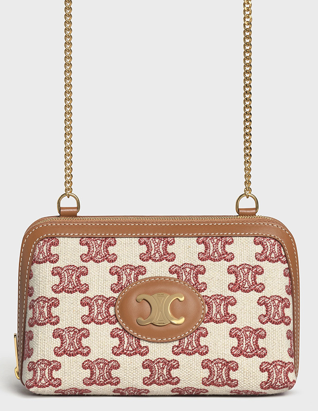Celine Triomphe Clutch With Chain