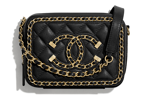 Chanel CC Filigree Chain Around Clutch With Chain thumb