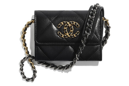 Chanel Flap Coin Purse With Chain thumb