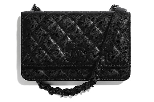 Chanel So Black Wallet On Chain thumb