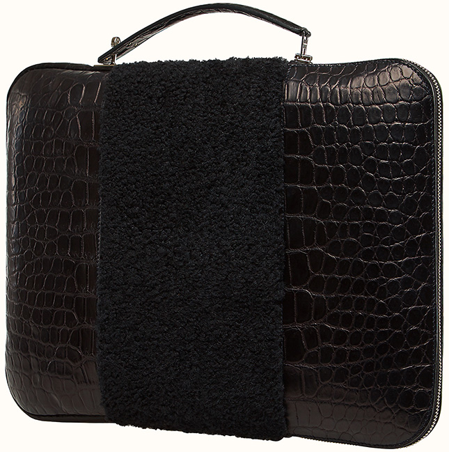 Hermes Petite H Stripe Briefcase