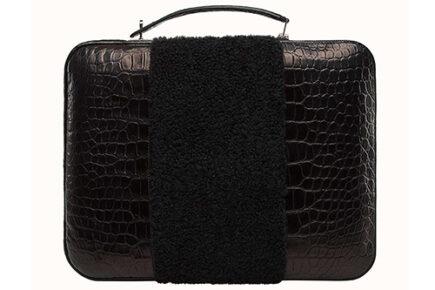 Hermes Petite H Stripe Briefcase thumb