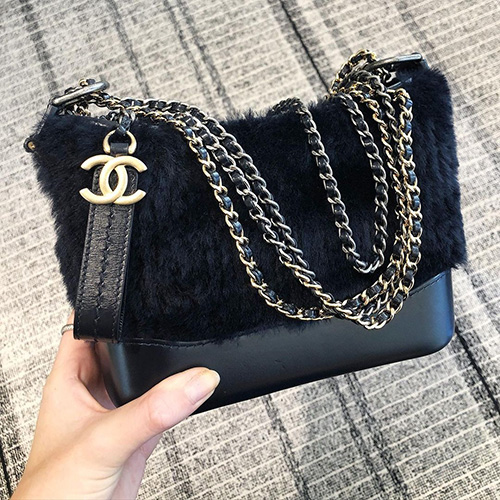 Chanel Gabrielle Shearling Lambskin Bag thumb